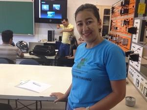Célia Keiko diz que aprendizagem sober Libras pode ser diferencial na carreira (Foto: Fernanda Borges/G1)