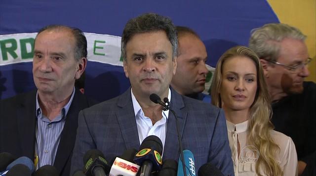 Aécio Neves fala sobre a sua derrota nas eleições para presidente do Brasil