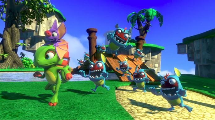 Yooka-Laylee pretende trazer a magia da série Banjo-Kazooie de volta à Nintendo no Switch (Foto: Reprodução/Kickstarter)