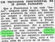 Charles Williams recebia salários no Fluminense na época do futebol amador (Foto: Diário de Notícias (1939))