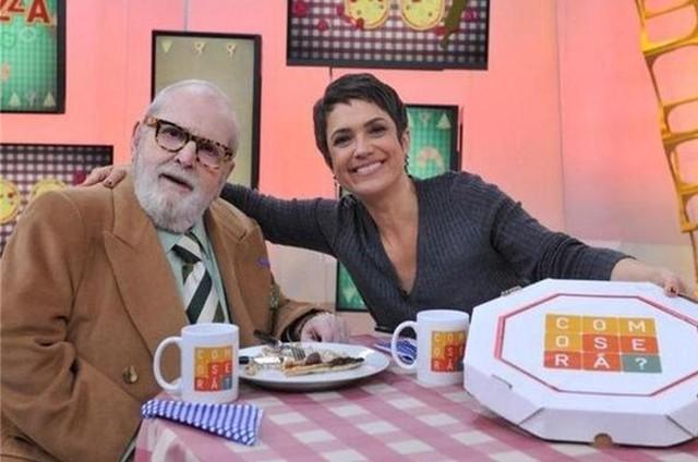 Jô Soares e Sandra Annemberg (Foto: TV Globo)