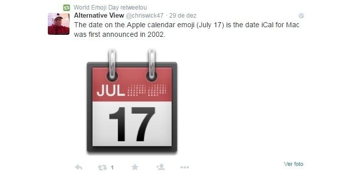 Data de Emoji Day deve-se à Apple (Foto: Reprodução/Twitter)
