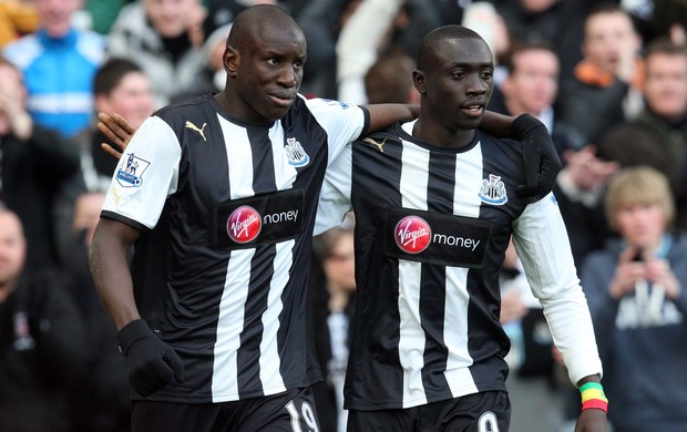 Demba Ba e Papiss Cissé, do Newcastle (Foto: Getty Images)