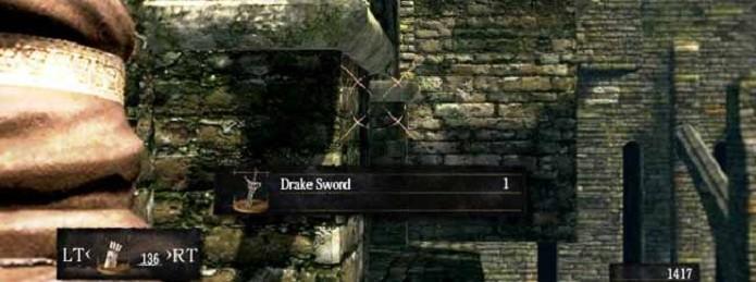 Drake Sword é a melhor espada do início do jogo (Foto: Divulgação)