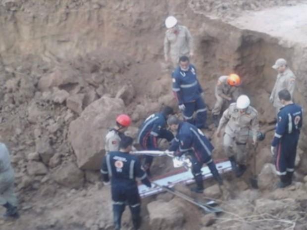 Criança de 12 anos morre soterrada em Sousa, no Sertão da Paraíba (Foto: Reprodução / TV Paraíba)