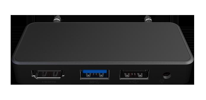 PC portátil possui adaptador para se conectar a mais periféricos (Foto: Reprodução/InFocus)