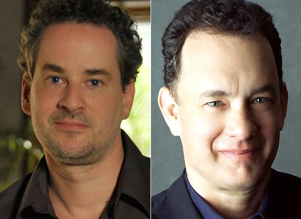 Dan Stulbach e Tom Hanks (Foto: Divulgação/TV Globo e Getty Images)