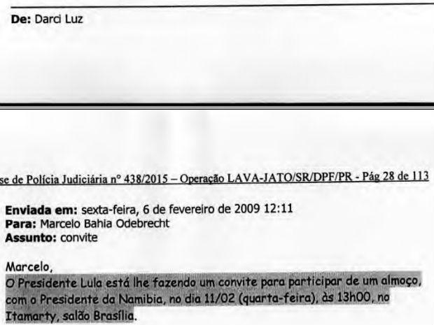 Pelo relatório da PF, presidente Lula convidou Marcelo Odebrecht para um almoço no Itamaraty (Foto: Reprodução)