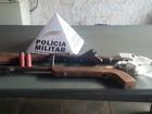 Jovem é encontrado com armas de fogo em Papagaios