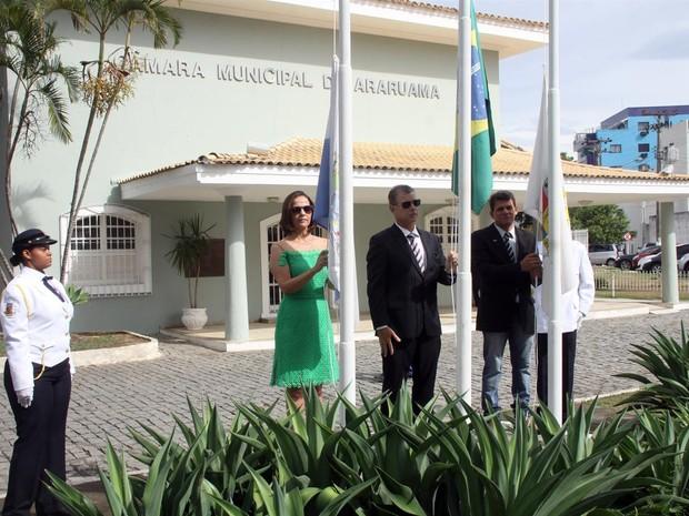 Cerimônia de hasteamento dos pavilhões e execução dos hinos do Brasil e da cidade será às 9h no Paço Municipal. (Foto: Marcelo Figueiredo/ Prefeitura de Araruama)