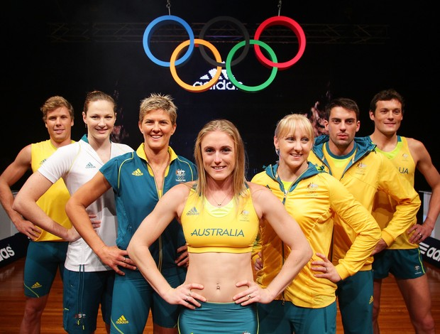 Austrália exibe uniforme das Olimpíadas (Foto: Getty Images)