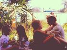 Giovanna Antonelli posa com os três filhos: 'Brincadeira de criança'