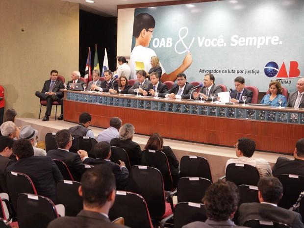 Conselho Federal da OAB aprovou ação civil contra o Estado do Maranhão (Foto: De Jesus/O Estado)