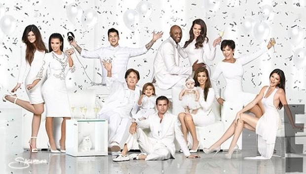 Cartão de Natal da família Kardashian (Foto: Site Oficial/Kim Kardashian)