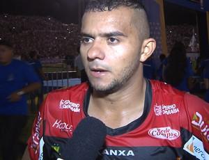 Adalgiso Pitbull, atacante do Campinense (Foto: Reprodução / TV Paraíba)