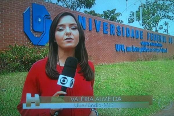 Repórter Valéria Almeida em Uberlândia, Minas Gerais  (Foto: Divulgação | TV Integração )