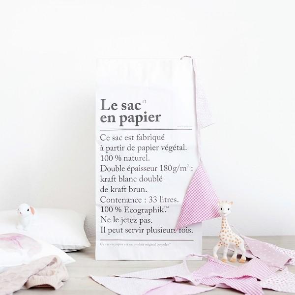 Le sac en papier': feito com papel reciclado e com funo multiuso (Foto: Reproduo/Oui Oui)