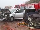 Batida frontal deixa cinco pessoas feridas em estrada vicinal em Dracena