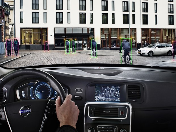 Volvo cria sistema que percebe movimentação de ciclistas e pedestres (Foto: Divulgação)