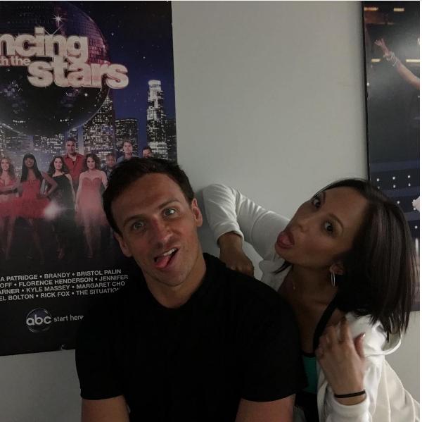 Ryan Lochte e sua parceira de dança após a eliminação no reality show (Foto: Instagram)