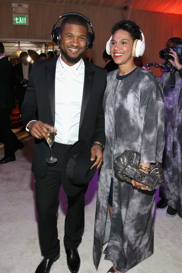 O músico Usher e sua esposa, Grace Miguel (Foto: Getty Images)