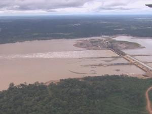 Usina Jirau (Foto: Rede Amazônica/ Reprodução)