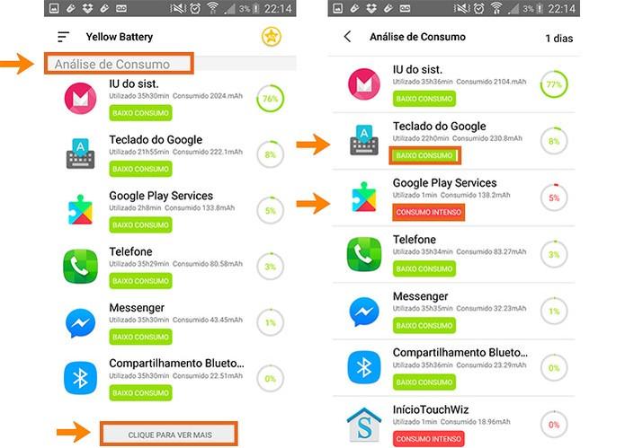 Confira quais aplicativos estão drenando sua carga no celular (Foto: Reprodução/Barbara Mannara)
