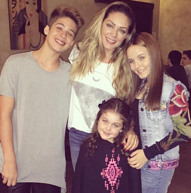 João Guilherme, Tânia Mara, Larissa Manoela e Maysa Matarazzo (Foto: Reprodução/Instagram)