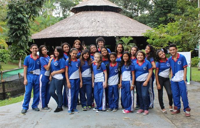 Alunos do CETI Gilberto Mestrinho (Foto: Katiúscia Monteiro/ Rede Amazônica)