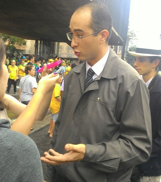 Daniel Martins, coordenador de manifestações do Instituto Plinio Corrêa de Oliveira (Foto: Bruno Ferrari/ÉPOCA)