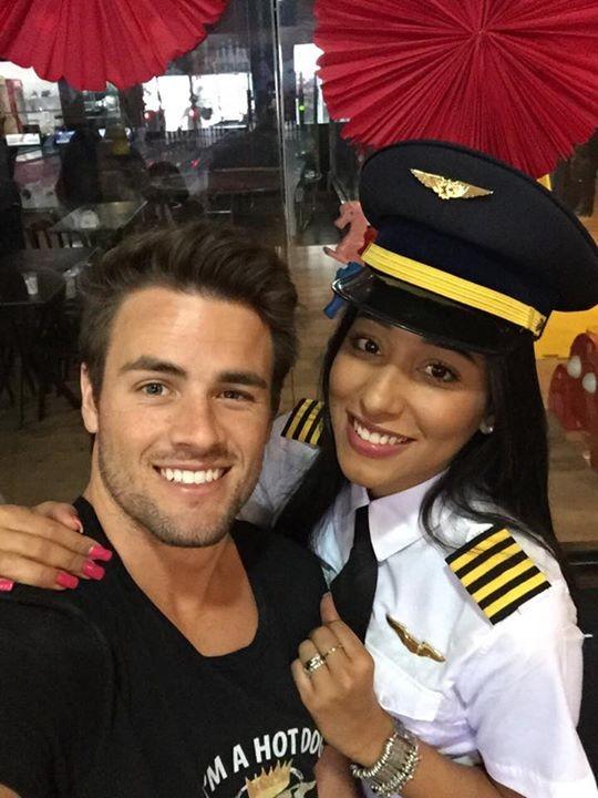 Rafael Licks e Talita Araújo (Foto: Facebook / Reprodução)