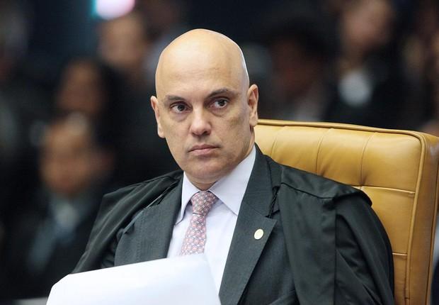 Ministro Alexandre de Moraes durante sessão do STF (Foto: Carlos Moura/SCO/STF)