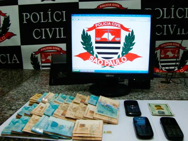 Polcia prendeu o criminoso com R$ 25 mil em dinheiro em um posto de combustveis, no centro de Jacare 