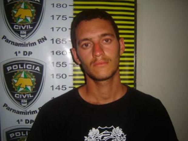 Artur Mateus Costa Silva foi preso em Santo Antônio, RN (Foto: Divulgação/Polícia Civil do RN)