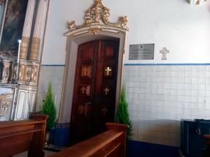 Porta da Misericórdia, na Igreja do Senhor do Bonfim, em Salvador (Foto: Alan Tiago/G1)