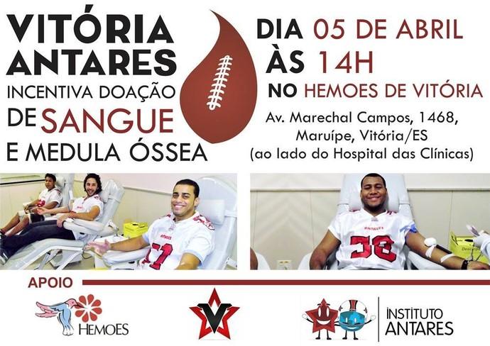 Campanha de doação de sangue (Foto: Divulgação/Vitória Antares)