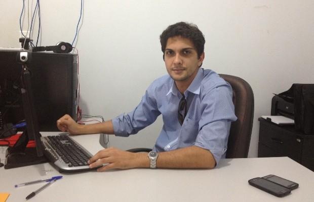 Queops Barreto, delegado responsável pela investigação do suposto estupro coletivo, em Indiara, Goiás (Foto: Sílvio Túlio/G1)