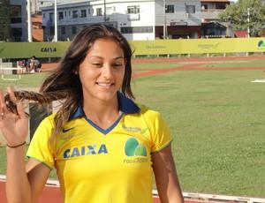 Ana Cláudia Lemos, recordista sul-americana dos 100m e dos 200m (Foto: Marcos Guerra)