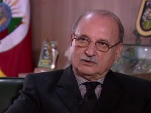 Secretário de Segurança Pública Wantuir Jacini (Foto: RBS TV/ Reprodução)