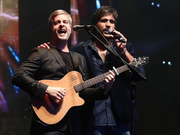 Victor e Leo em festa em Uberlândia, Minas Gerais (Foto: Manuela Scarpa/ Brazil News)