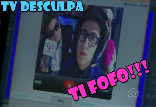 Orelha faz TV Desculpa para Morgana (Foto: Malhação / TV Globo)