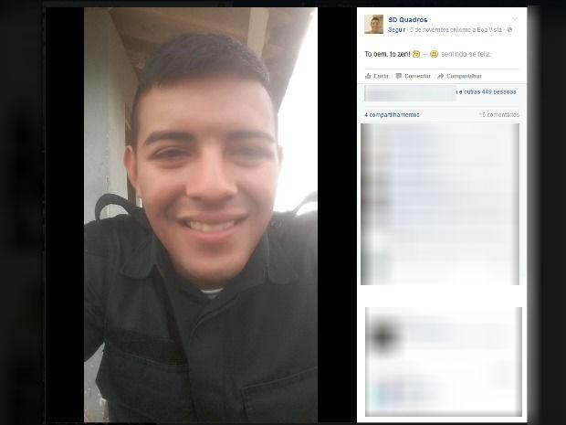 Soldado Felipe Quadros é acusado de matar amiga da ex-namorada, o pai dela e um empresário a quem devia dinheiro (Foto: Reprodução/Facebook)