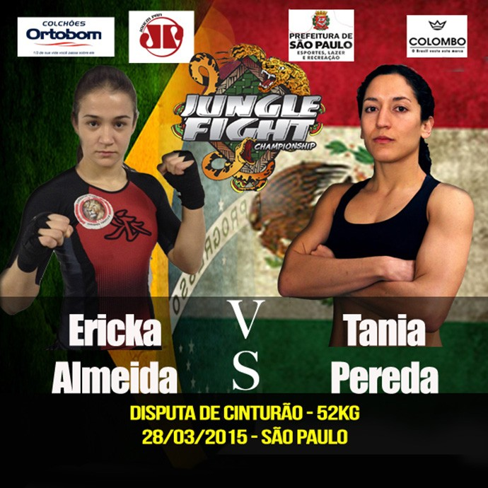 Pôster do Jungle Fight 76 - Erika Almeida x Tania Pereda (Foto: Divulgação)
