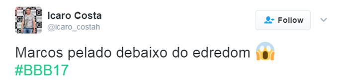 Tuíte Marcos (Foto: Reprodução Twitter/@icaro_costah)