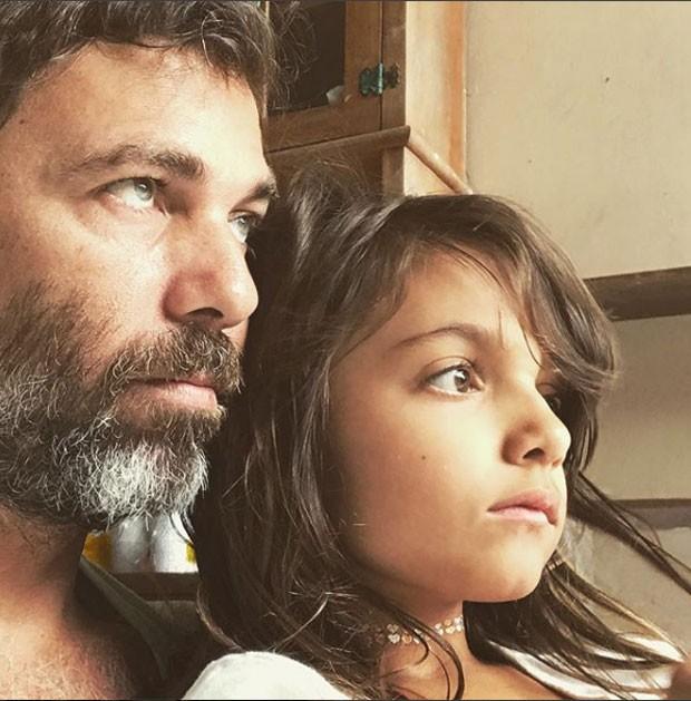 Marcelo Faria e a filha, Felipa (Foto: Reprodução Instagram)