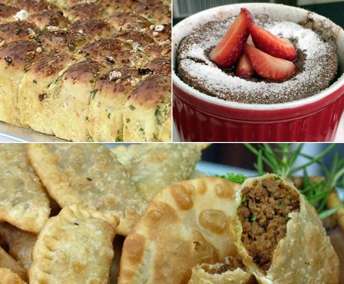 Pão Bolinha de Alho, Suflê de Chocolate e Massa Prática de Pastel (Foto: Mais Você/Gshow)