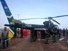 Helicóptero é entregue ao GTA para atuar em resgate e patrulha, no AP