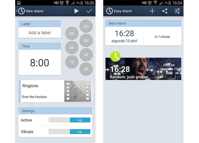Despertador permite que usuário sincronize com vídeos do YouTube (Foto: Reprodução/Barbara Mannara)