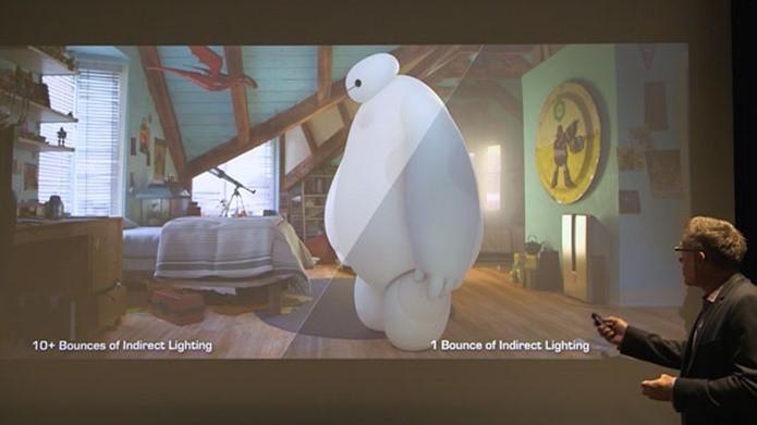 Comparativo de iluminação em Big Hero 6 (Foto: Reprodução / Engadget)