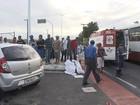Batida entre carro e moto deixa um morto na Av. Suburbana, em Salvador
